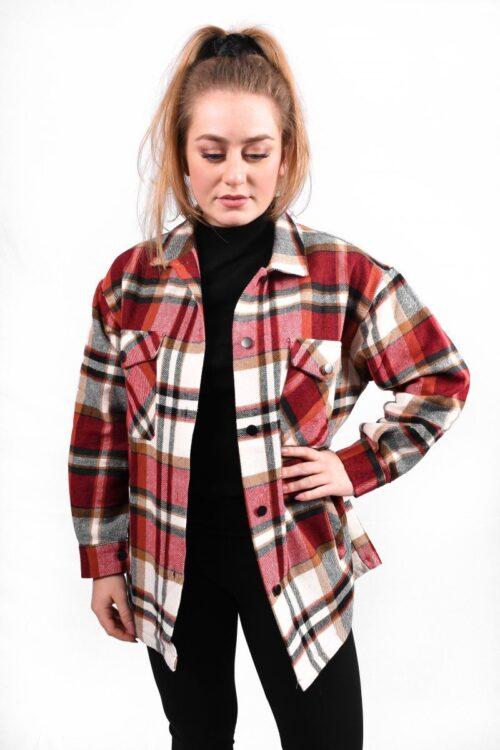 Lumber jacket rood