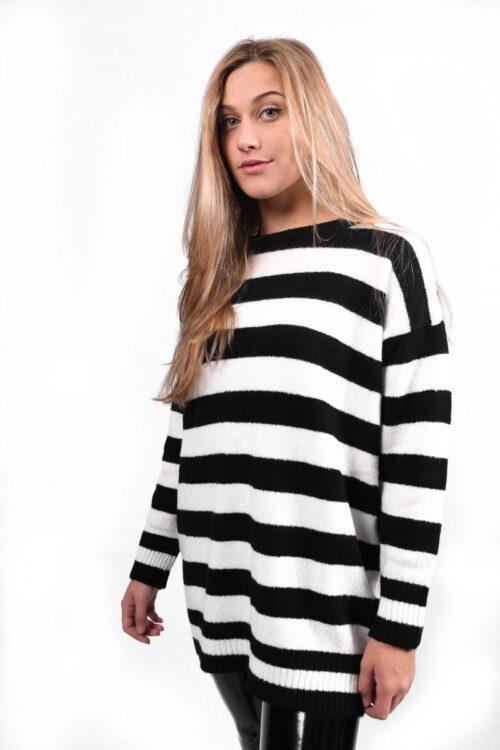 Striped trui
